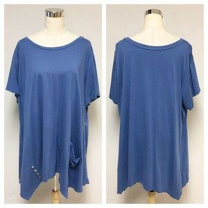 ➕ LOGO Asymmetrical Tunic Top 10C